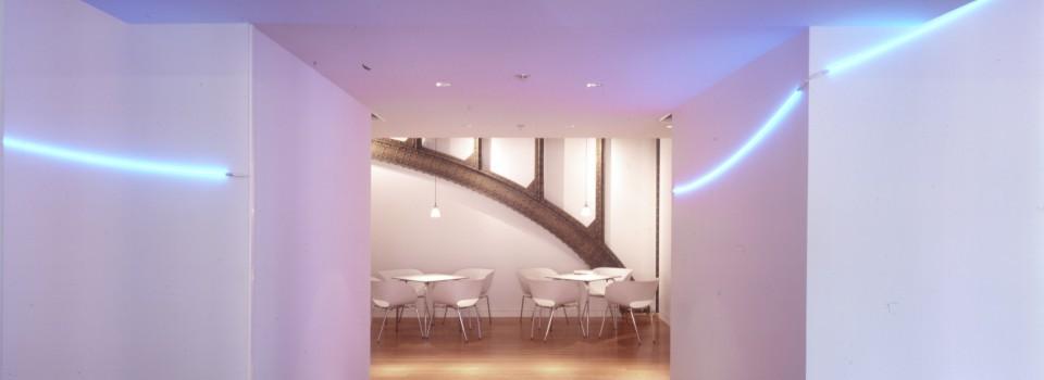 François Morellet, installation, Valode & Pistre architectes, Paris