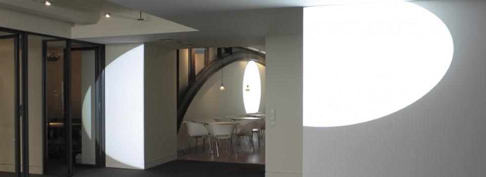 Michel Verjux, installation, agence Valode & Pistre architectes, Paris